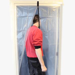Stofdeur (snel en eenvoudig een ruimte afschermen tegen stof)